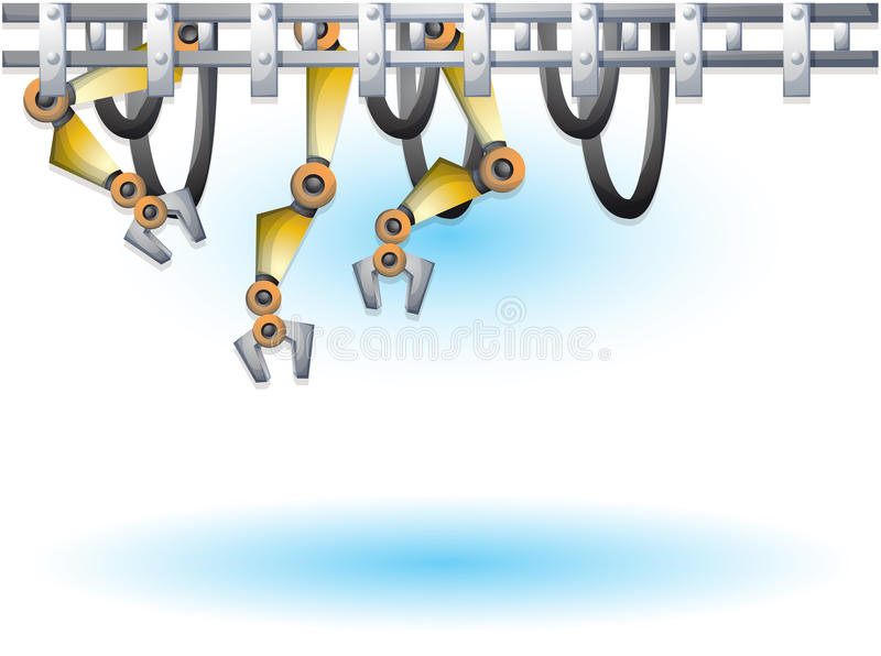 Cartoon vector illustration interior factory room with separated layers vector illustration