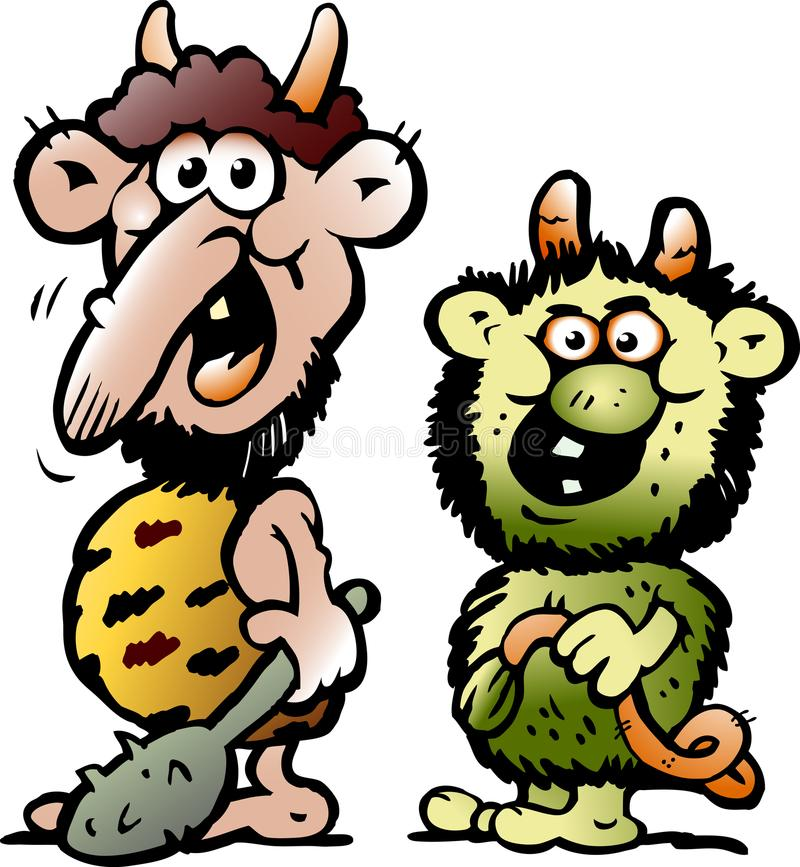 Free Cartoon Vector Illustration Of Two Funny Goblins Or Trolls Stock Photo - 107117320