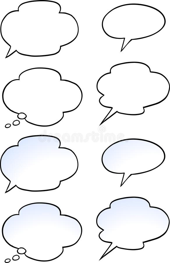 Cartoon Vector illustration of a set speak bubble royalty free illustration