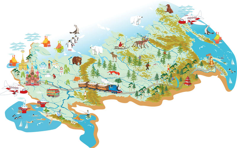 Map of Russia royalty free illustration