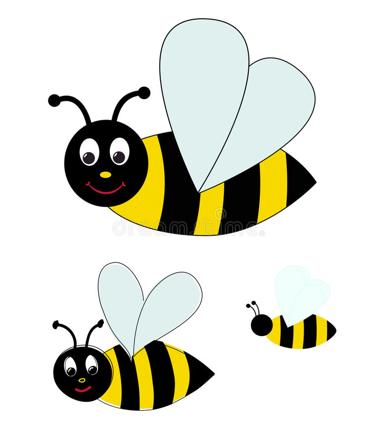 Download Bee stock vector. Illustration of isolated, cartoon, funny - 29988024
