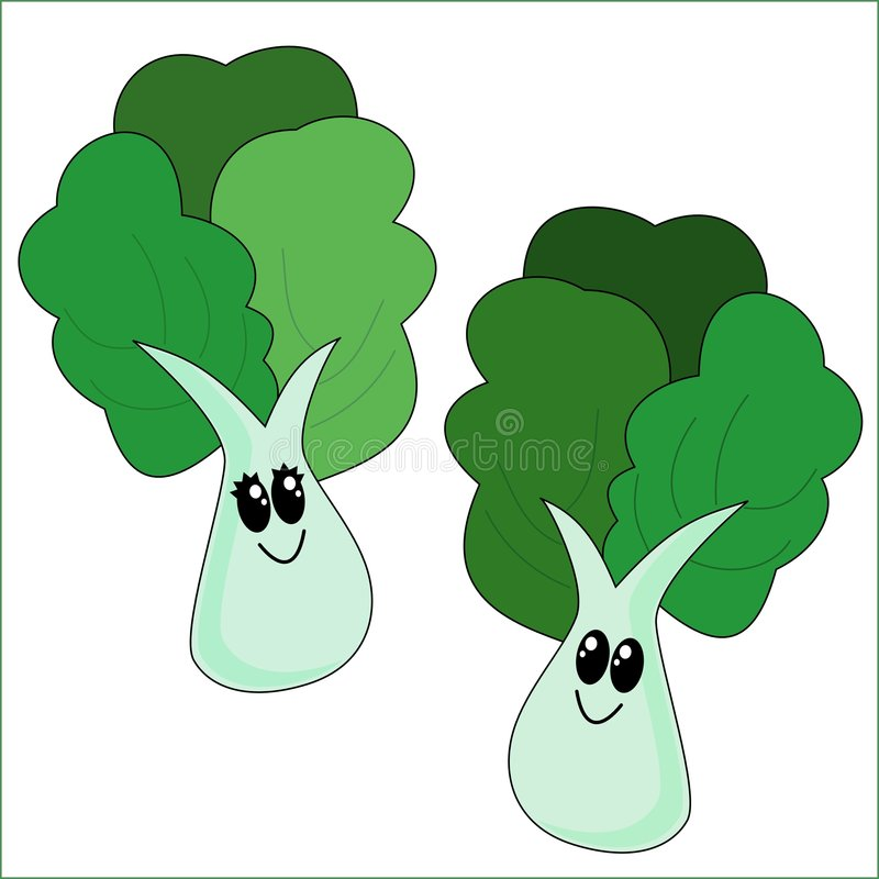 Cartoon Vegetables royalty free illustration