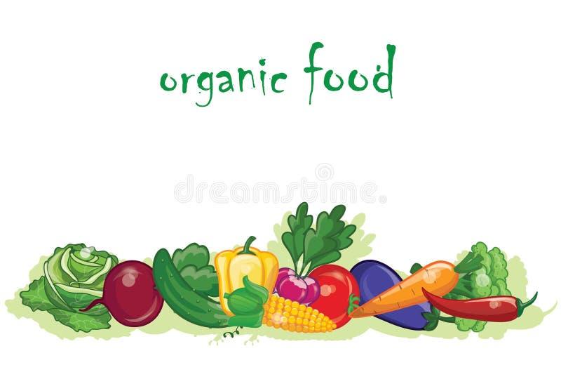 Cartoon vegetables,vector background stock illustration