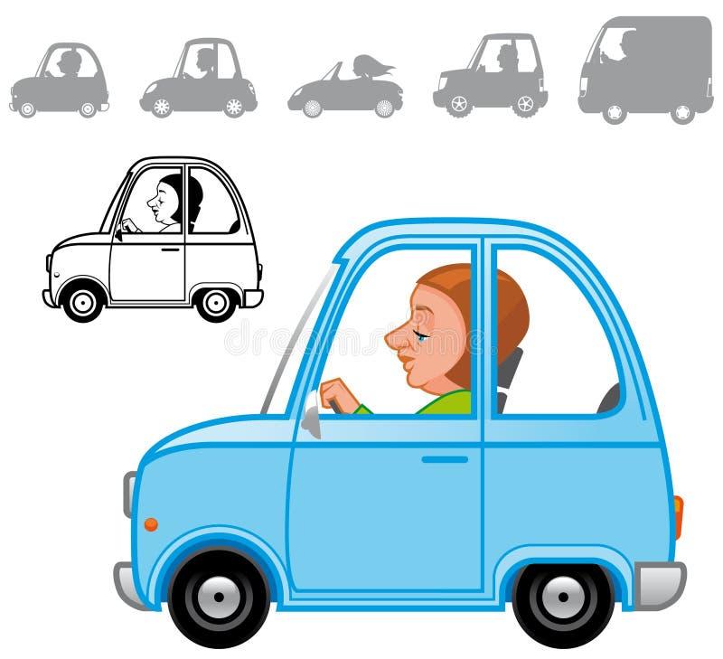 Cartoon vehicles series stock illustration