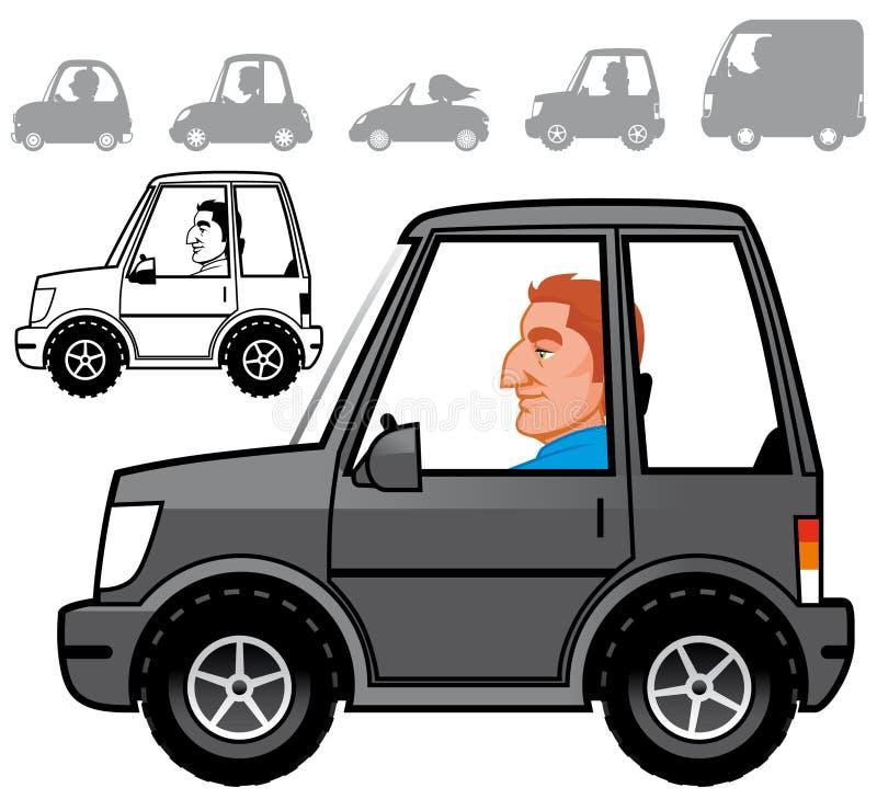 Cartoon vehicles series vector illustration