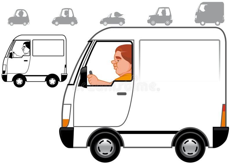 Cartoon vehicles series royalty free illustration
