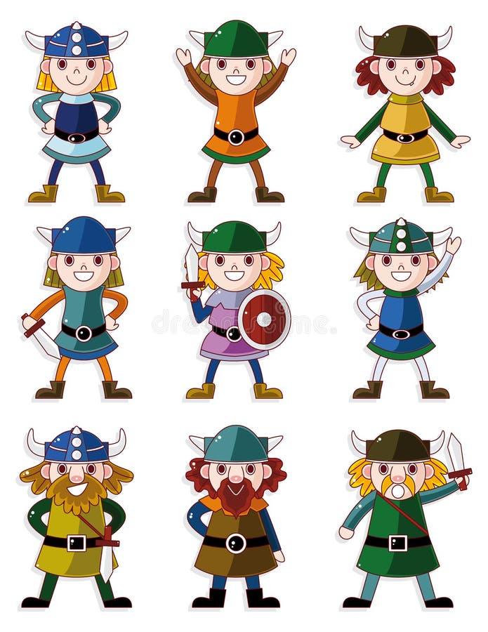 Download Cartoon Viking Pirate Icon Set Stock Vector - Image: 20678608