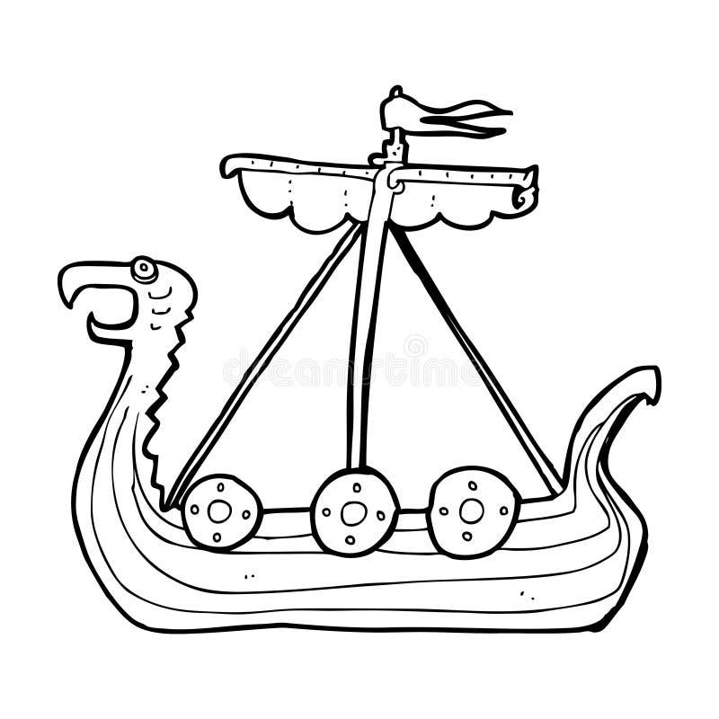 Line Art Cartoon Toys Vector : Cartoon viking ship stock illustration of