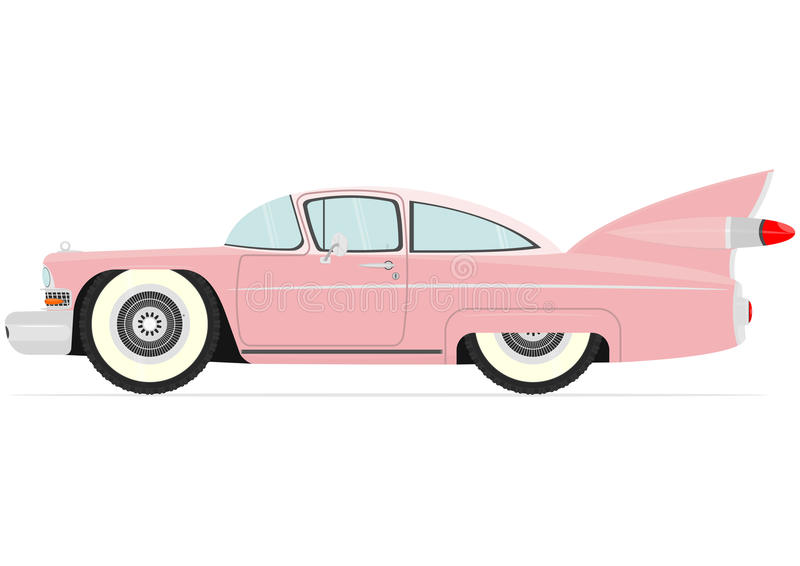 Cartoon vintage car royalty free illustration