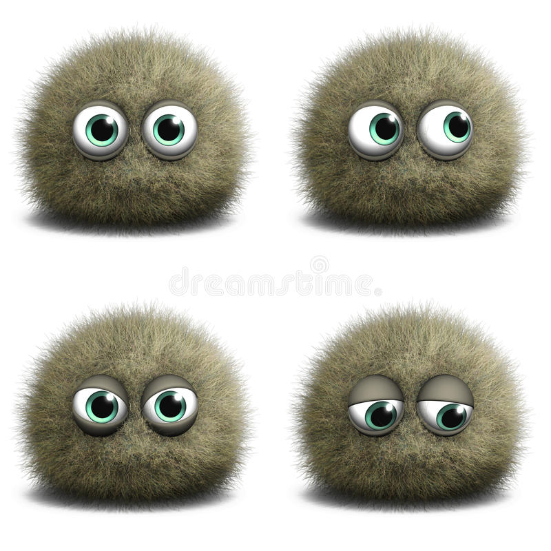 Cartoon virus vector illustration