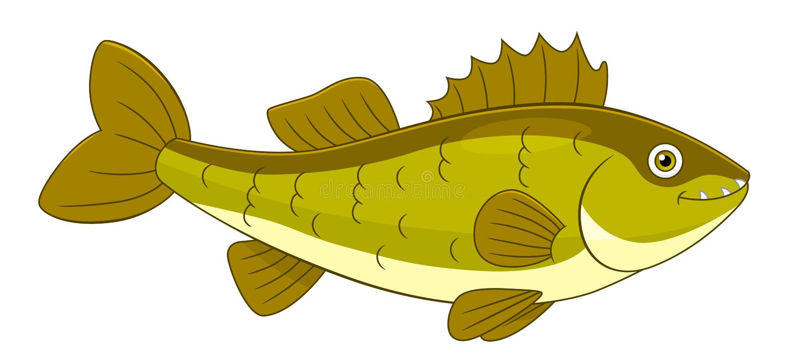 Cartoon walleye stock photos
