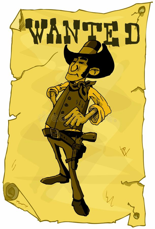 Download Cartoon Wanted Poster Of A Cowboy Stock Photo - Image: 19105780
