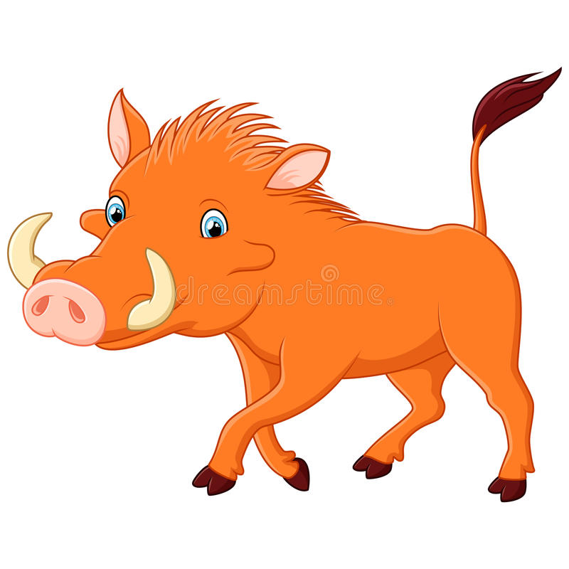 Cartoon warthog stock illustration