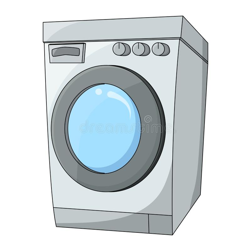Cartoon washing machine design isolated on white background.  stock illustration
