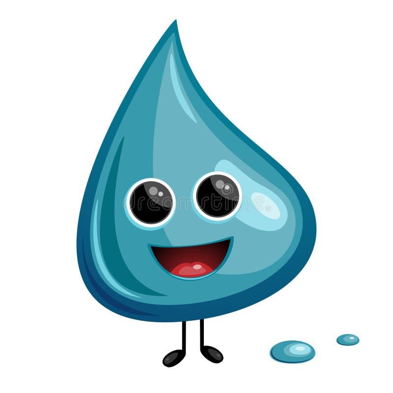 cartoon water drop stock vector illustration of spill 35055432 rh dreamstime com cartoon water drop clipart cartoon water drop images