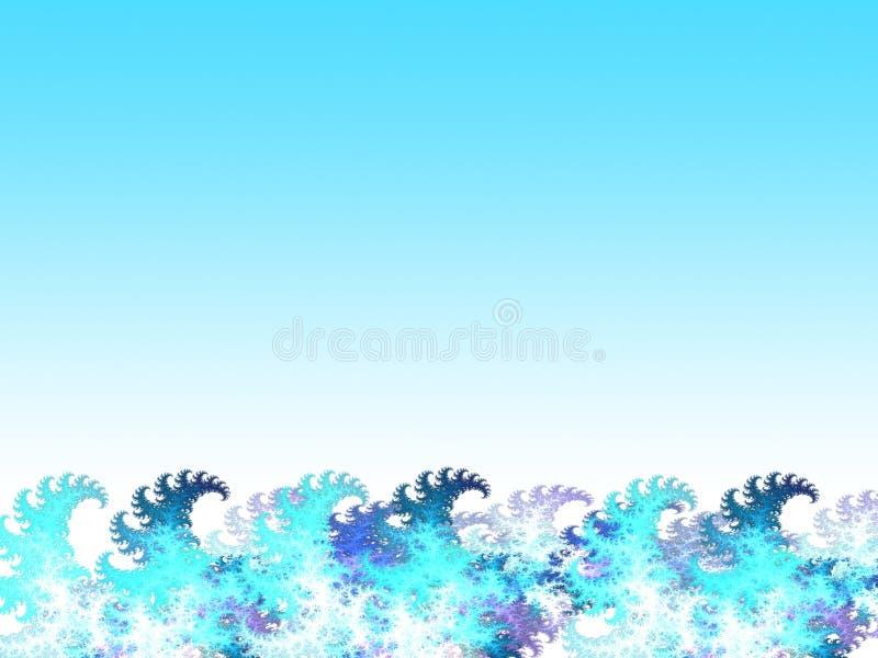 Cartoon water waves stock illustration