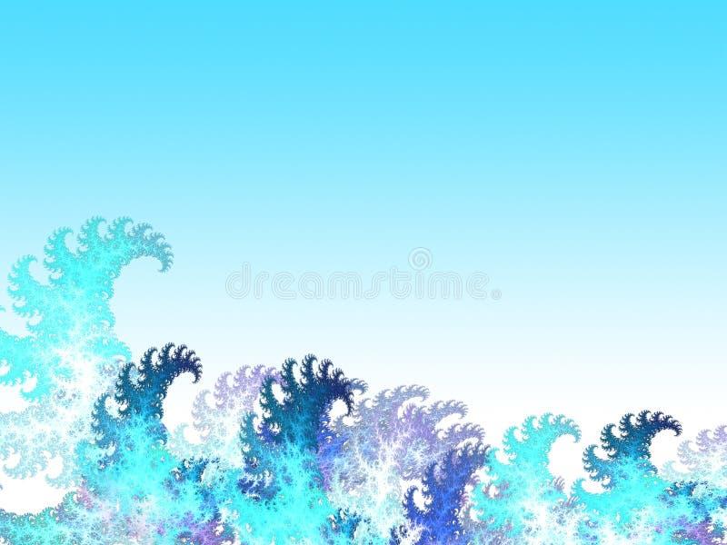 Cartoon water waves vector illustration