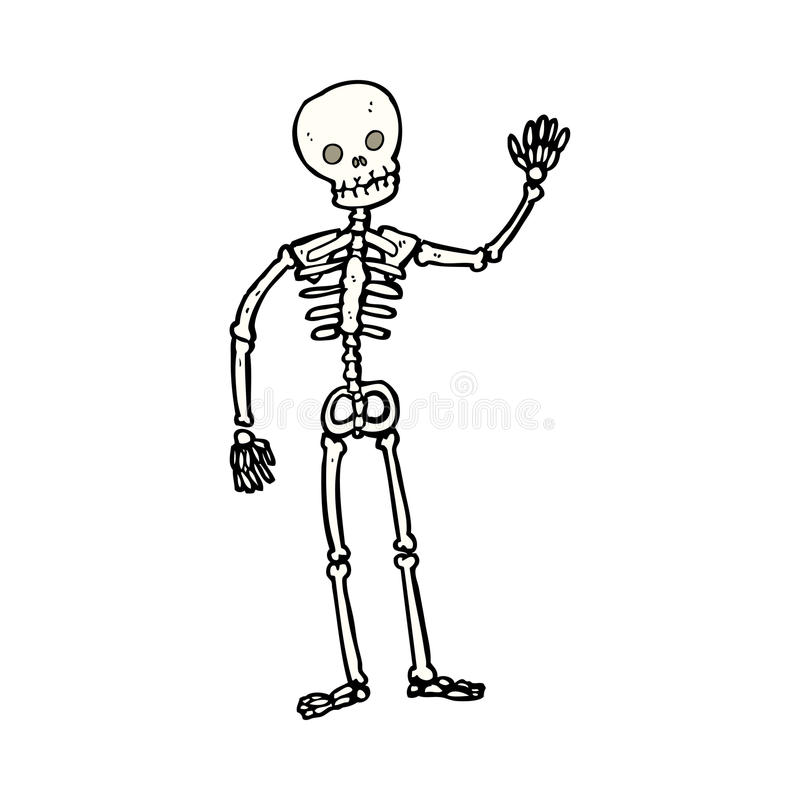 cartoon waving skeleton stock photo - image: 37037450, Skeleton