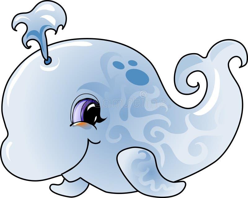 Cartoon whale stock illustration