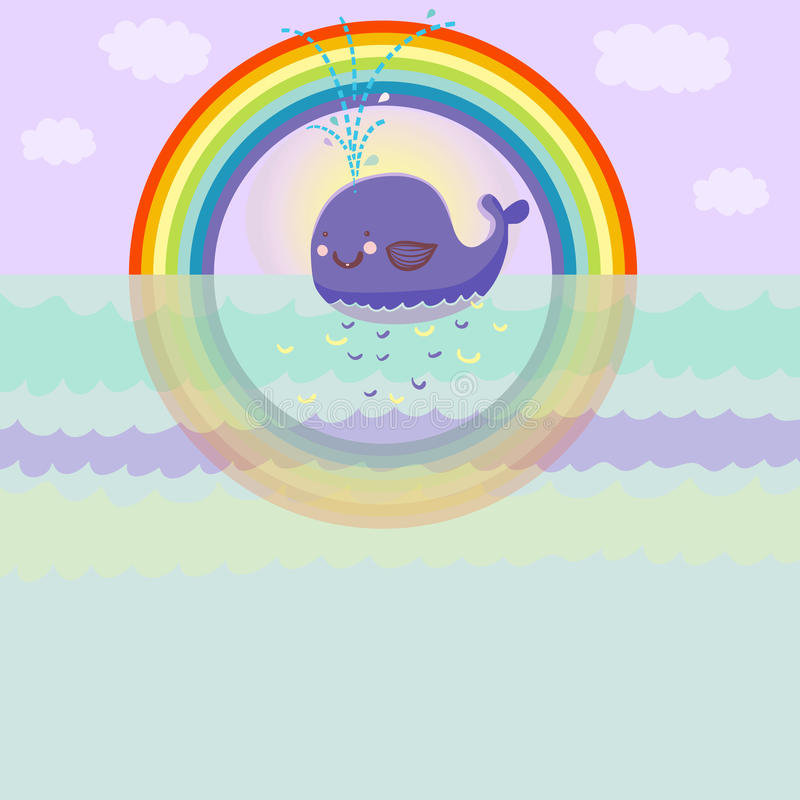 Cartoon Whale Stock Photo