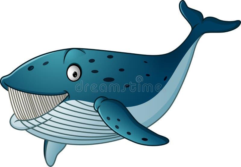 Cartoon whale shark isolated on white background royalty free illustration