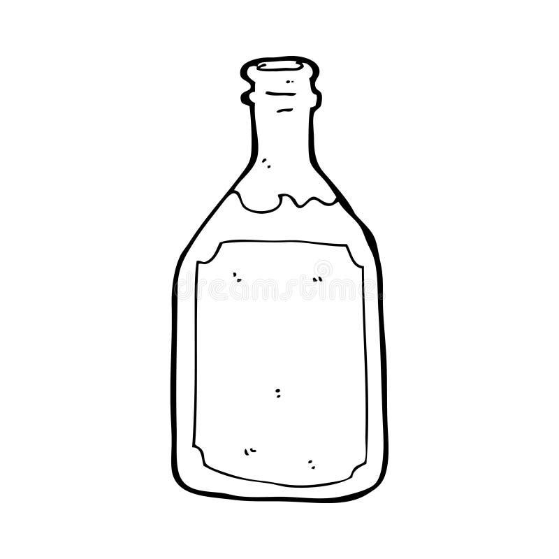 Cartoon Whiskey Bottle Stock Illustration. Illustration Of