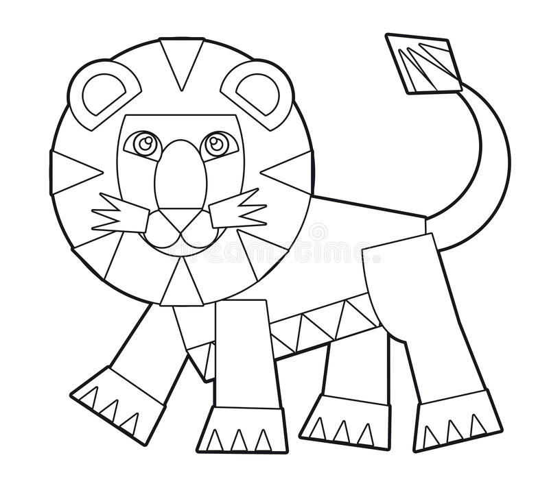 download cartoon wild animal coloring page for the children stock illustration image 35582543 - Animal Coloring Pages Children