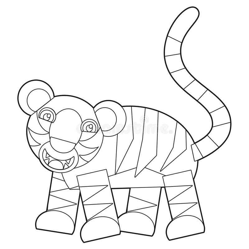 download cartoon wild animal coloring page for the children stock illustration image 35582685 - Animal Coloring Pages Children
