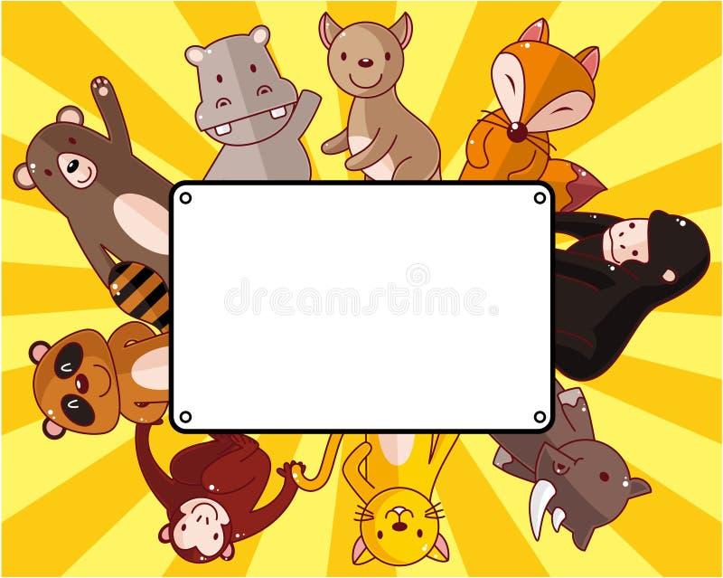 Download Cartoon Wildlife Animal Card Stock Vector - Illustration of comic, kangaroo: 20537521