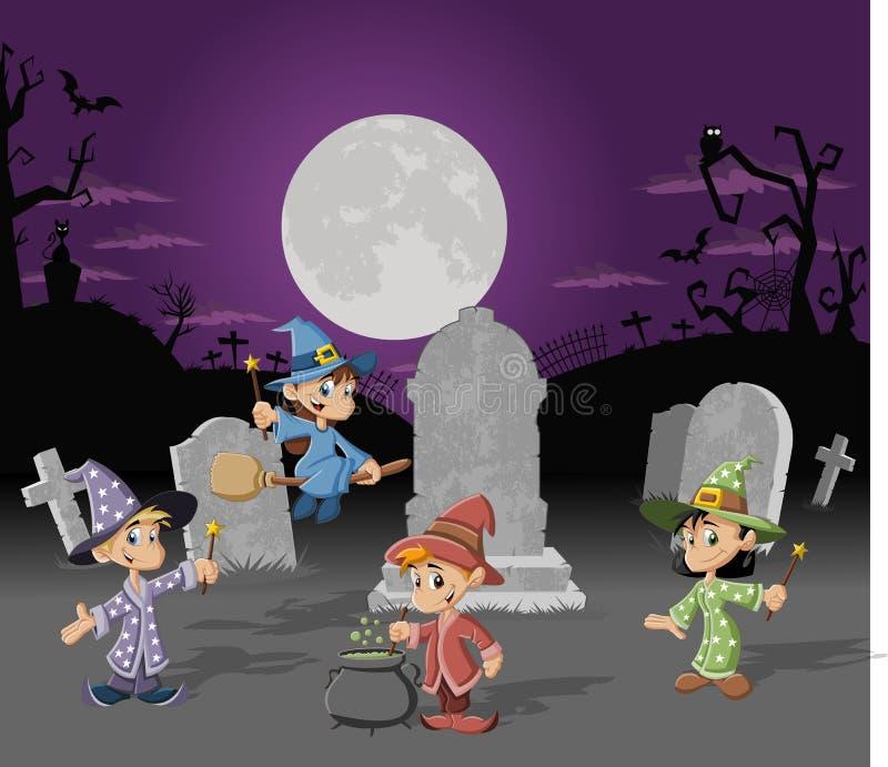 Cartoon wizards vector illustration