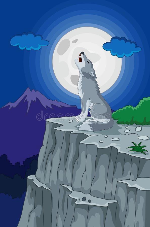 Wolf Howling At The Moon Silhouette