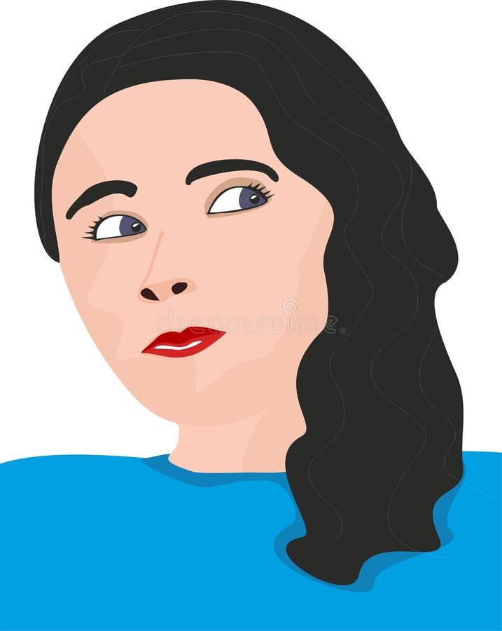 Cartoon woman stock photography