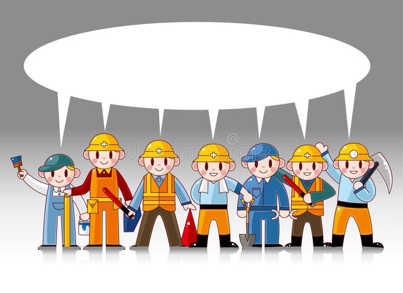 Download Cartoon worker card stock vector. Illustration of engineer - 20026309