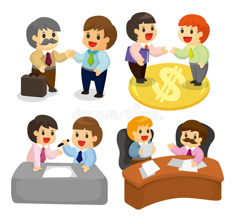 Download Cartoon worker icon set stock vector. Image of boss, lady - 20119148