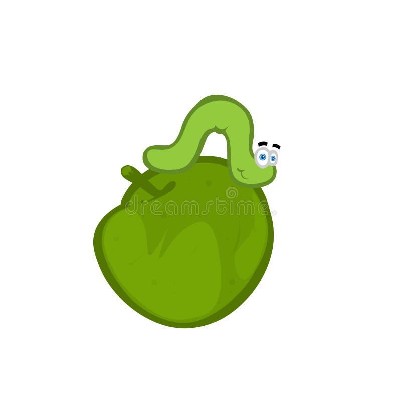 Download Cartoon worm stock illustration. Illustration of invertebrate - 11670213