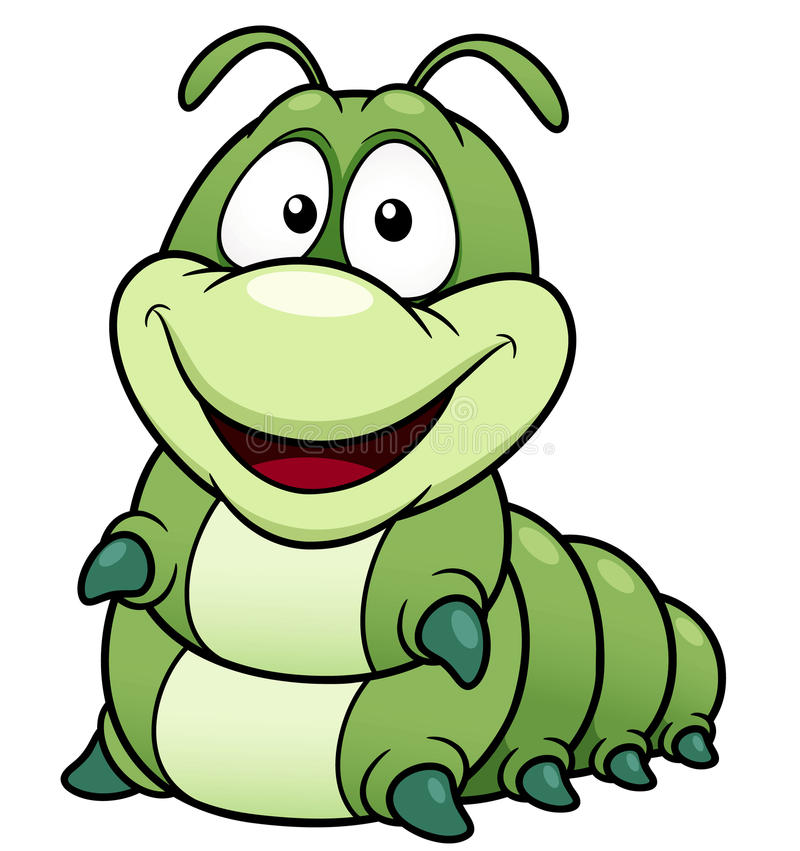Cartoon worm vector illustration