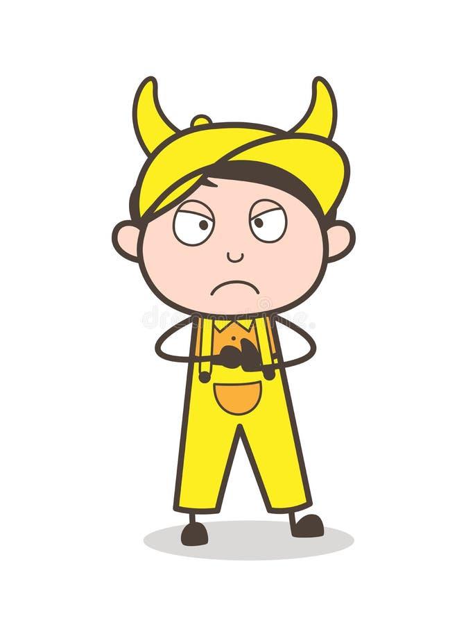 Cartoon Young Bad Boy Vector Illustration. Cartoon Young Bad Boy Vector design stock illustration