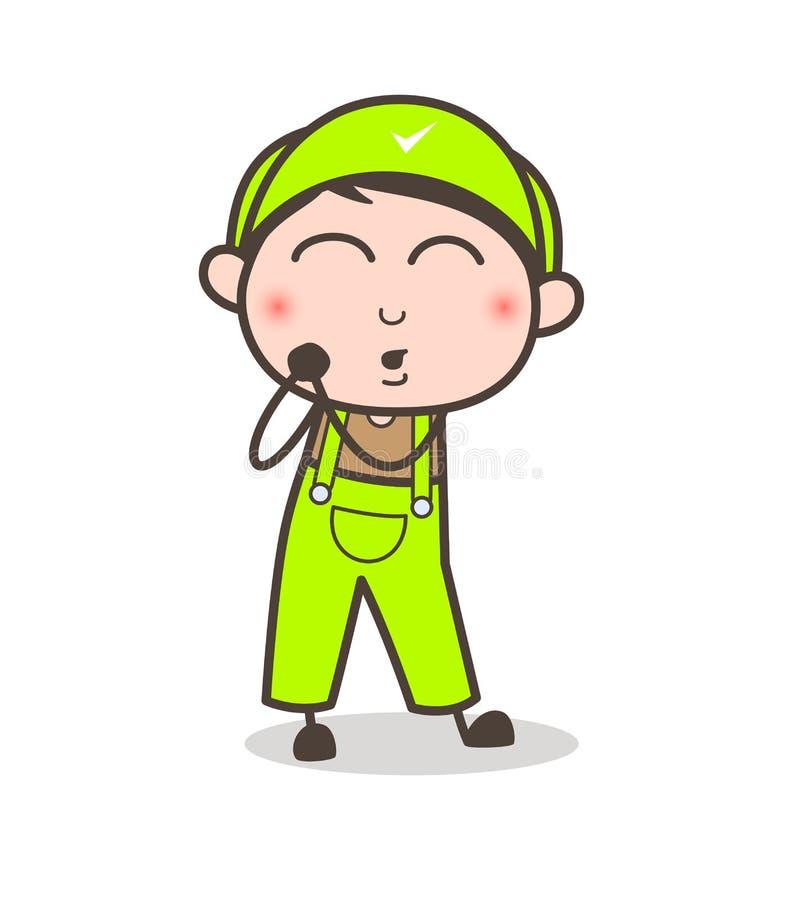Cartoon Young Boy Feeling Very Lovely Vector Illustration. Cartoon Young Boy Feeling Very Lovely Vector design vector illustration