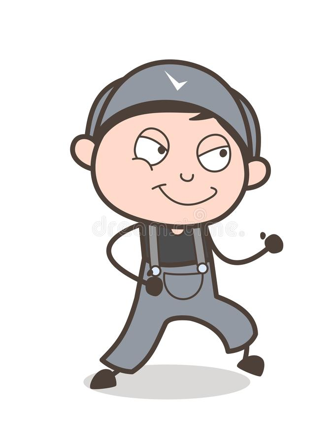 Cartoon Young Boy Running Pose Vector Illustration. Cartoon Young Boy Running Pose Vector design vector illustration