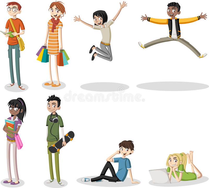 Free Cartoon Young People. Stock Photo - 78983020