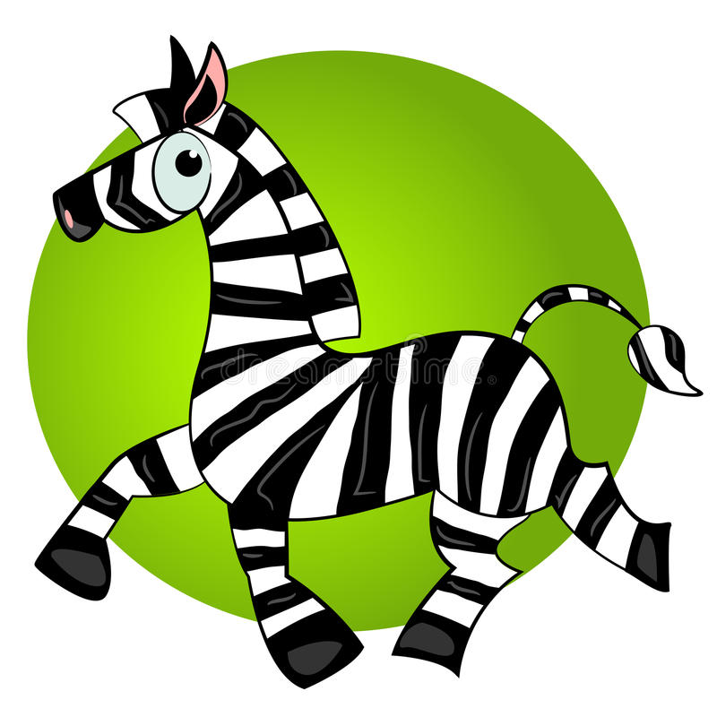 Cartoon zebra character.striped cute animal vector illustration