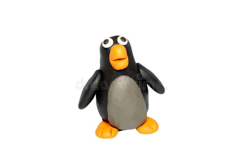 Cartoon-Zeichen, Penguin isoliert auf weißem Hintergrund mit Clipping-Pfad vektor abbildung