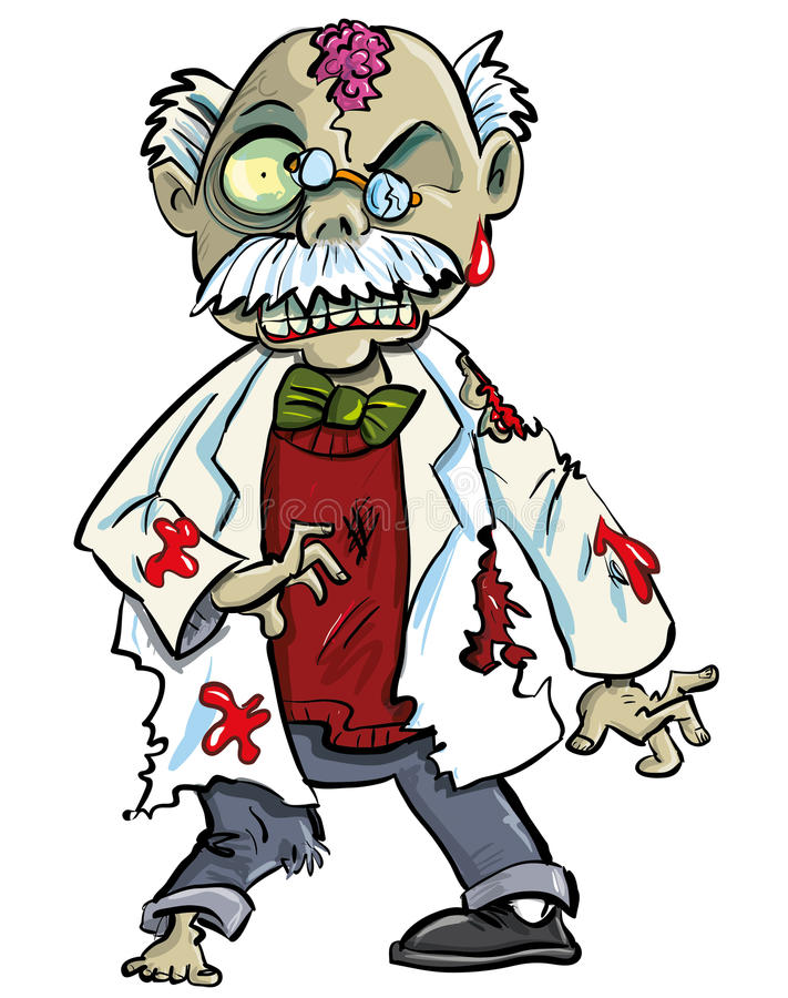 Download Cartoon Zombie Scientist With Brains Showing Stock Illustration - Image: 30326395