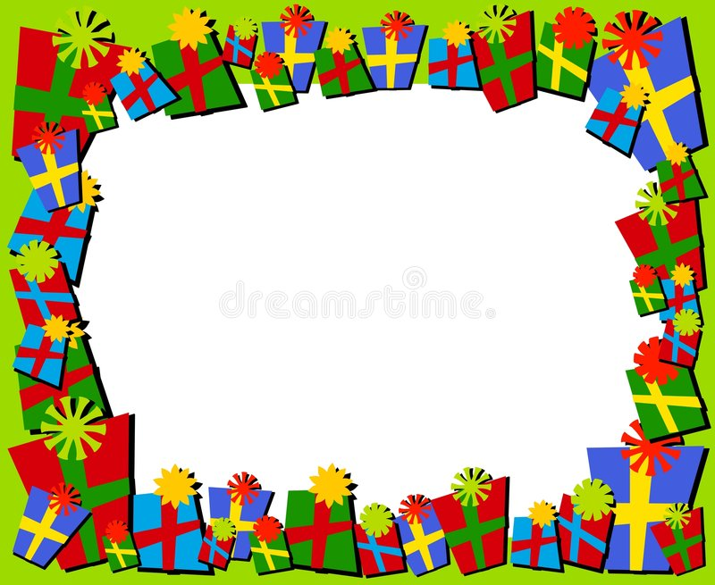 Download Cartoonish Christmas Gifts Border Or Frame Stock Photo - Image: 3619990