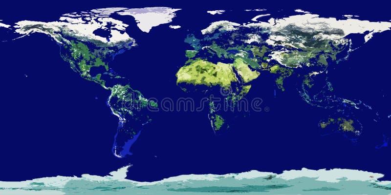 Cartoonish Colored World Map Royalty Free Stock Photo
