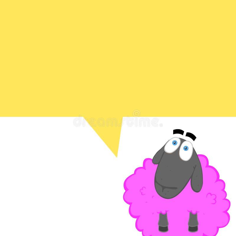 Cartoonish comics with a pink sheep stock illustration