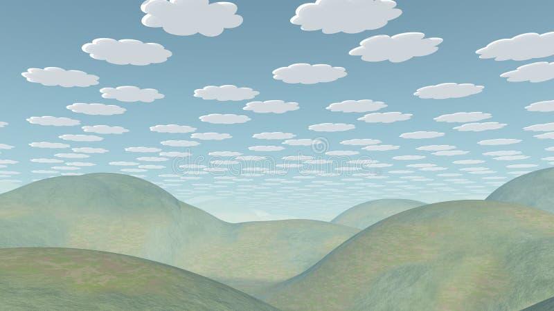 Cartoonish Landschaft lizenzfreie abbildung