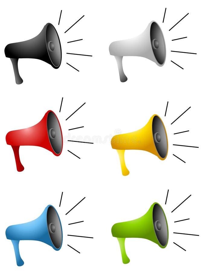 Download Cartoonish Megaphones stock illustration. Image of loudspeaker - 4750214