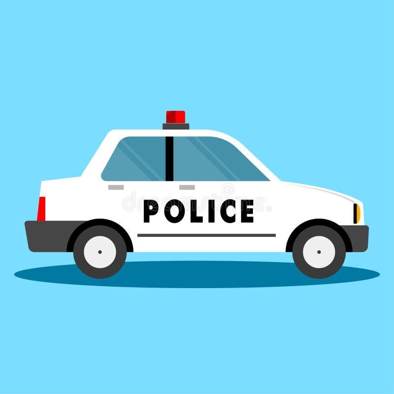 cartoonish samochodowy wizerunek odizolowywał stylowego policja biel royalty ilustracja