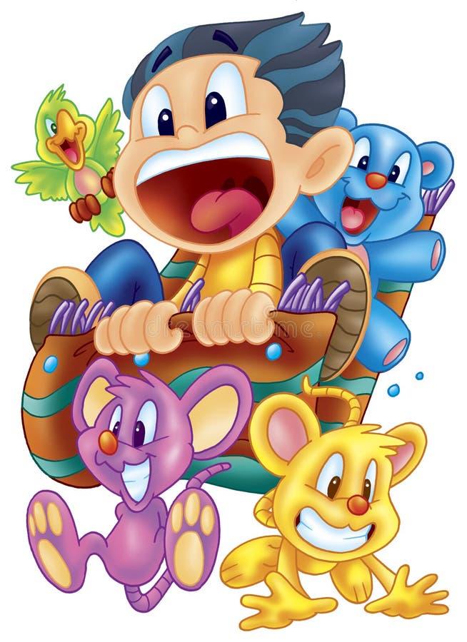 Download Cartoons stock illustration. Image of colorful, digital - 8132091